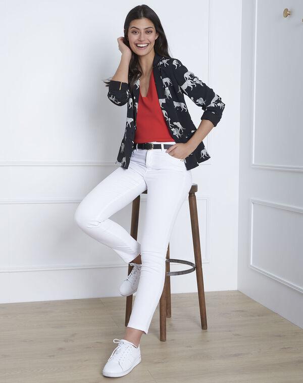 Vendome white slim-fit jeans (1) - Maison 123 2e7cd4b91