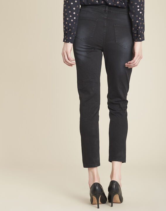 Vivienne black jeans with side stripes (4) - 1-2-3