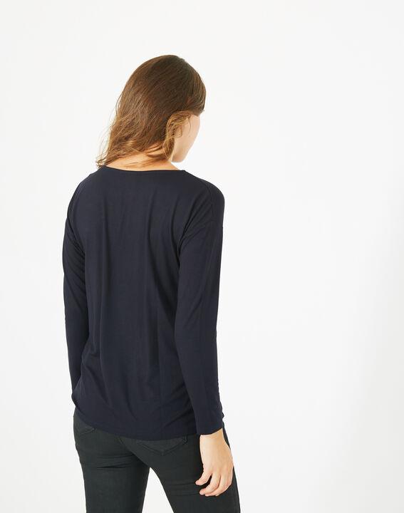 T-shirt broderie florale Bacchus (5) - 1-2-3