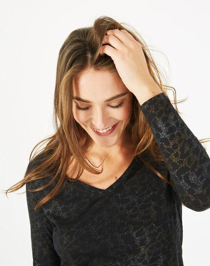 Tee-shirt noir imprimé Beast (3) - 1-2-3