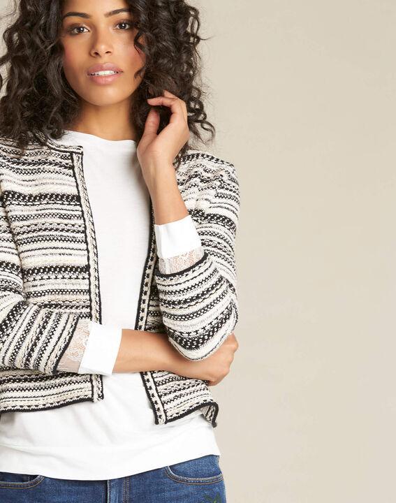 Nougat short jacquard pale pink jacket PhotoZ | 1-2-3