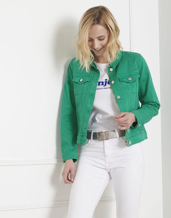 Veste en jean verte Clem (2) - Maison 123