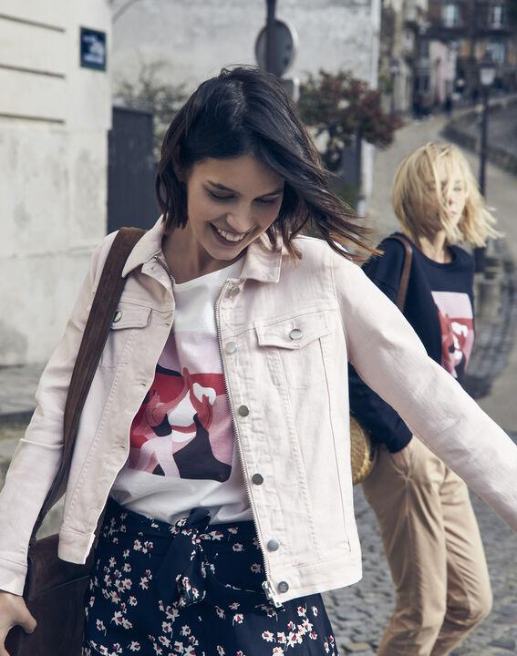 T-Shirt ecru Mujer Internationaler Frauentag PhotoZ   1-2-3