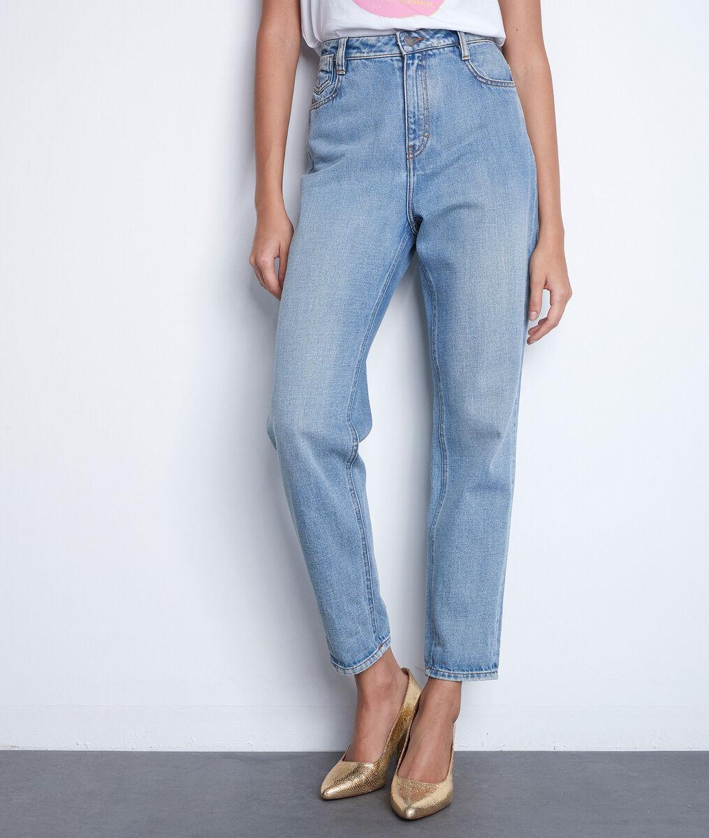 De iconische mum jeans in pure bleached katoen Solene PhotoZ | 1-2-3