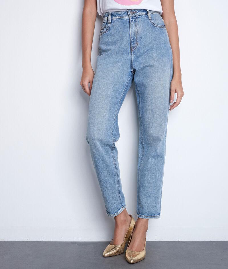 L'iconique jean mum en coton pure bleached Solene PhotoZ | 1-2-3