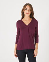 Barbara dark purple t-shirt eggplant.