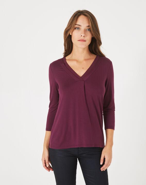 Tee-shirt cassis Barbara (2) - 1-2-3