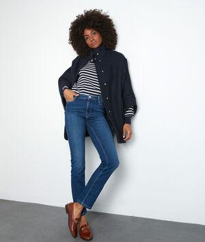 Verwassen blauwe straight-fit jeans