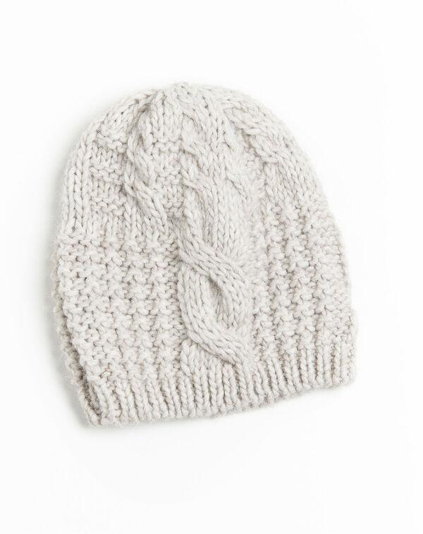 Bonnet écru point fantaisie en laine Utopia (1) - 1-2-3