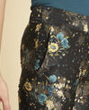 Harmonie navy blue straight-cut trousers with floral print (3) - 1-2-3