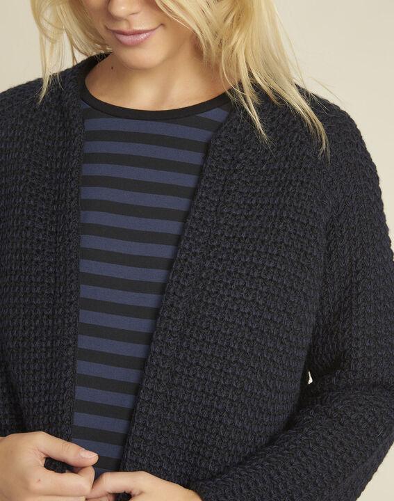 Veste noire laine mélangée Boby (3) - 1-2-3