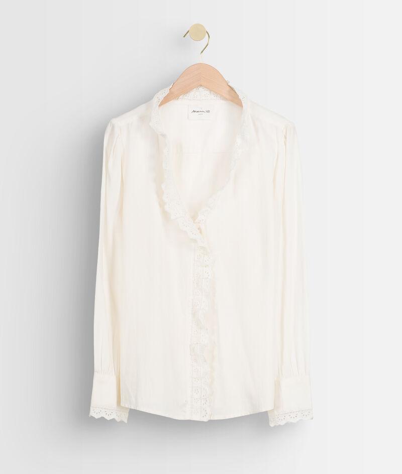 Chemise romantique en coton blanc et broderies Adelaide PhotoZ | 1-2-3