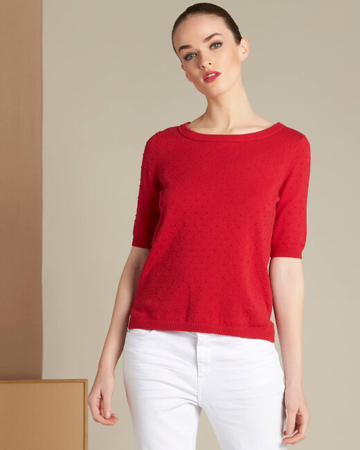 Nadia red sweater with bow on the back (2) - 1-2-3