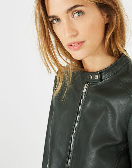 Hugo forest green leather jacket (3) - 1-2-3