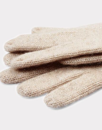Beigefarbene Kaschmir-Handschuhe Tulipe bis (2) - 1-2-3