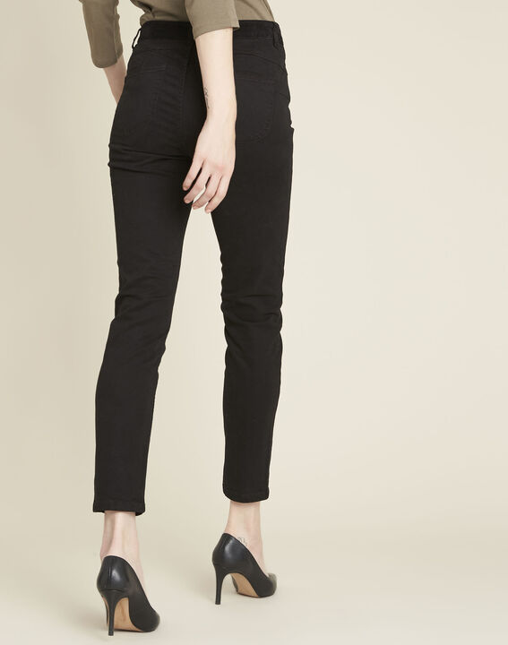 Honoré black slim-fit 7/8 jeans with velvet panels (4) - 1-2-3