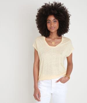 Tee-shirt en lin certifié citron Ecool