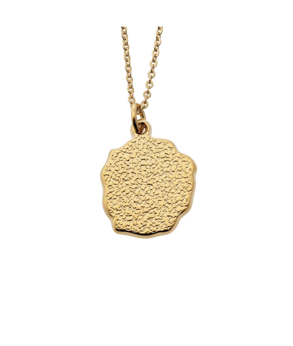 Collier médaille pépite or Bijoux Léone PhotoZ | 1-2-3