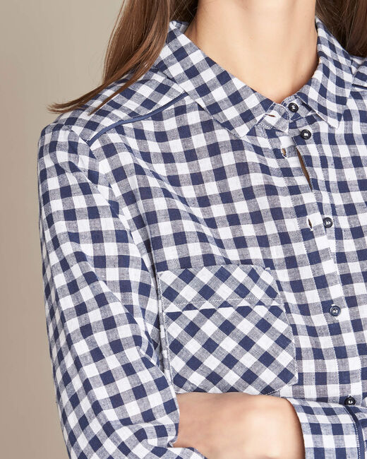 Alvin navy check shirt (1) - 1-2-3
