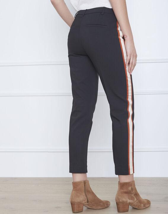 Pantalon noir bande latérale acajou Golden (3) - Maison 123