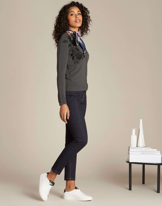 Nora grey embroidered cardigan (2) - 1-2-3