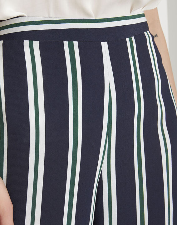 Pantalon marine rayé Griffon (3) - Maison 123