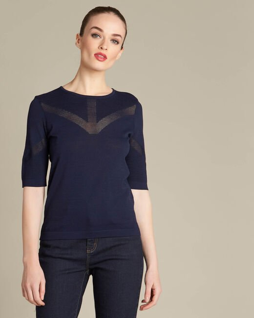 Nymphe navy blue sweater with spotted detailing (2) - 1-2-3