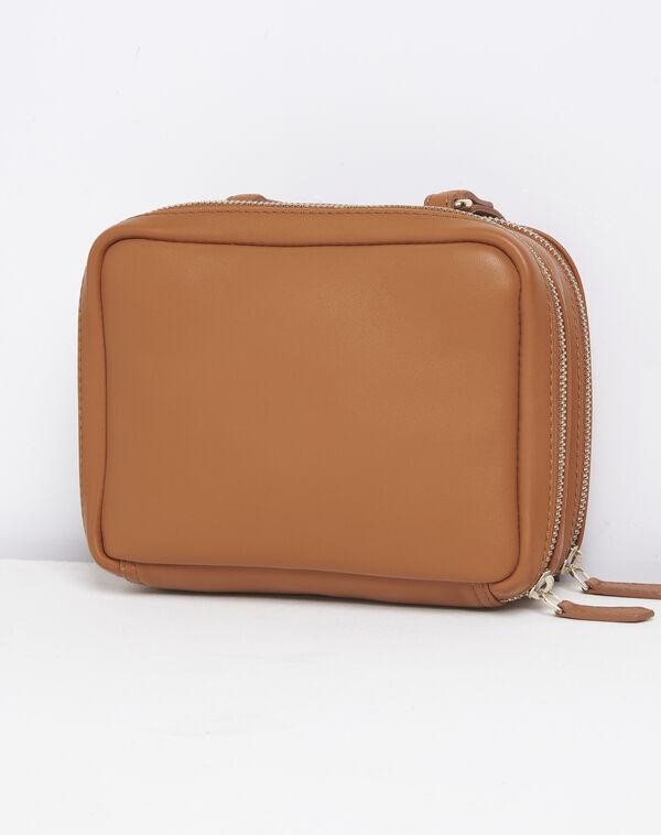 Sac bandoulière zips dorés marron Dolly (2) - 1-2-3