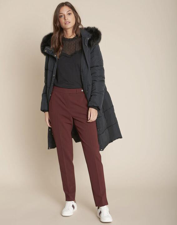 Pantalon en microfibre cigarette marron Lara PhotoZ | 1-2-3