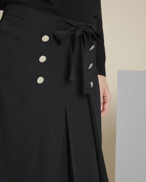 Jupe noire volants et boutons argentés Alix (2) - 1-2-3