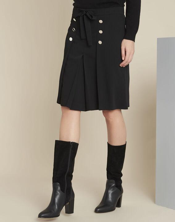 Zwarte rok met volants en zilverkleurige knopen Alix PhotoZ | 1-2-3