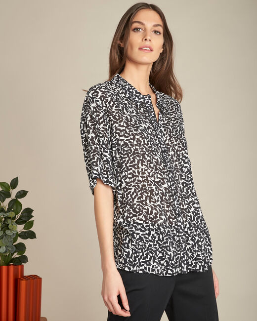 Ravel black floral patterned shirt (2) - 1-2-3