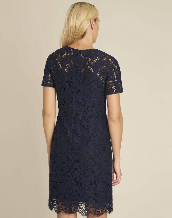 Donkerblauwe kanten jurk Nida (4) - 37653