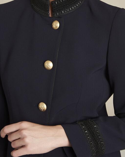 Veste marine officier détail col Shelby (2) - 1-2-3