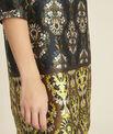 Robe noire imprimé fleuri Destin PhotoZ | 1-2-3