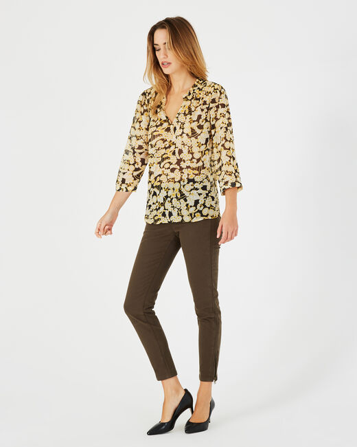 Erine yellow floral print blouse (1) - 1-2-3