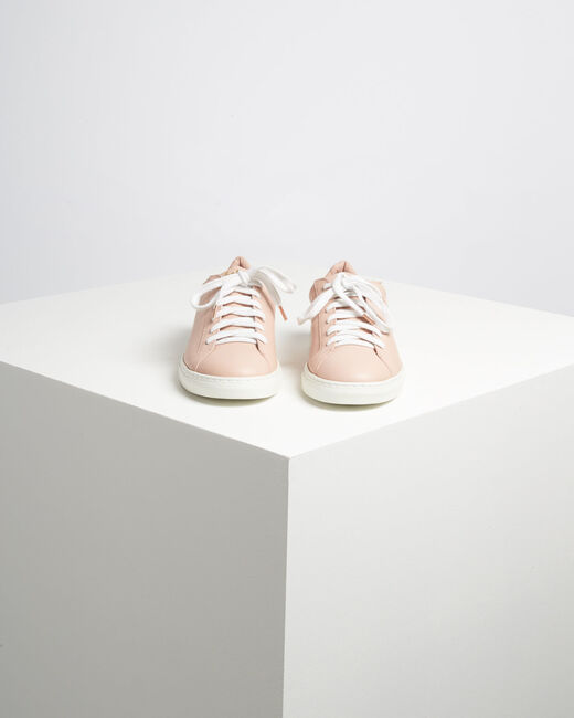 Kennedy pastel golden leather trainers with serigraph detailing  (1) - 1-2-3