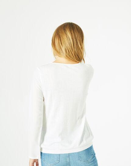 Pull blanc cassé cachemire mélangé Paloma (5) - 1-2-3