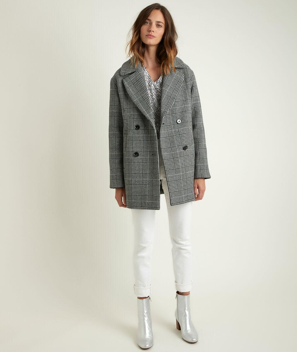 Manteau 3/4 à carreaux Oprah PhotoZ | 1-2-3