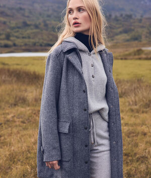 Manteau en laine gris anthracite LUANA