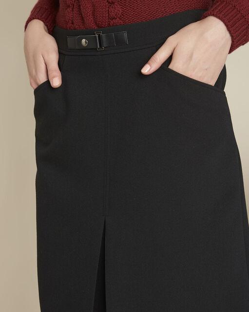 Jupe noire compacte détail boucle Angel (2) - 1-2-3