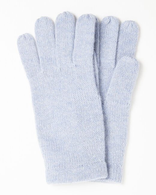 Gants bleu azur en cachemire Ustavio (1) - 37653