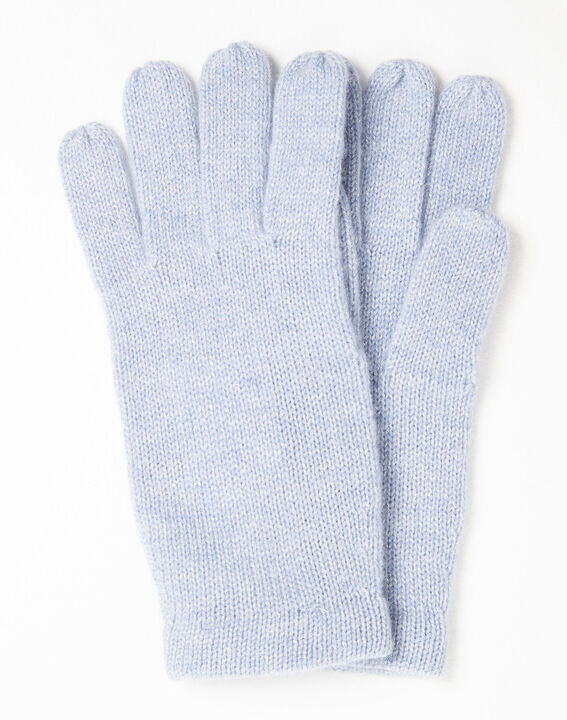 Ustavio azure blue cashmere gloves PhotoZ | 1-2-3