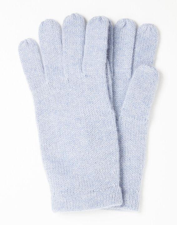 Azuurblauwe handschoenen van kasjmier Ustavio (1) - Maison 123