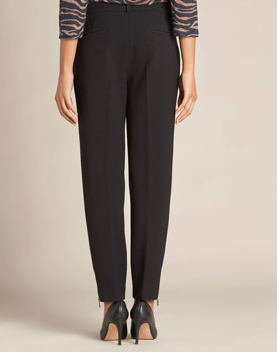 Valero black fitted trousers with zips (4) - 1-2-3