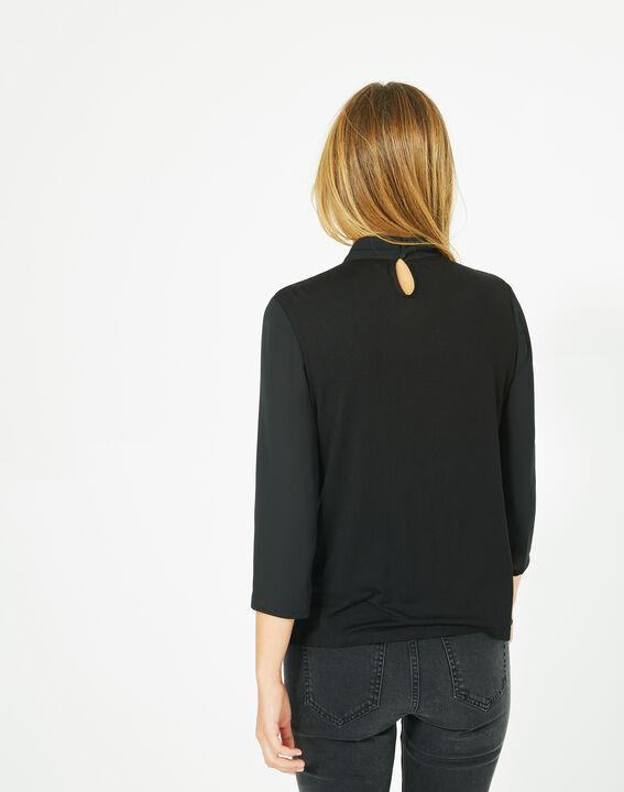 Tee-shirt noir à volants Bulle (5) - 1-2-3