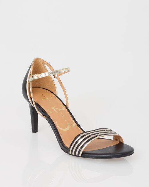 Joddie black open toe court shoes (2) - 1-2-3