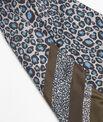 Carré de soie bleu imprimé léopard Felin PhotoZ   1-2-3