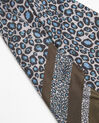 Felin blue leopard print silk square (2) - 1-2-3