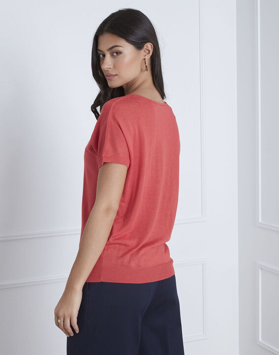 Roter Pullover mit Hals-Detail Never (4) - Maison 123
